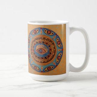 Evil Eye Mandala: Unique Painting Coffee Mug