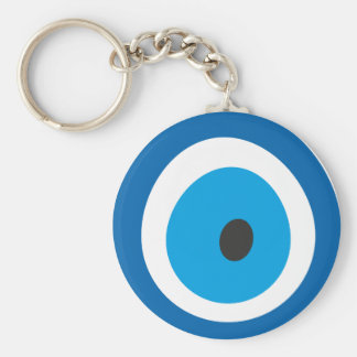 Evil Eye, Nazar, Charm, Luck, Protection, Spiritua Basic Round Button Keychain