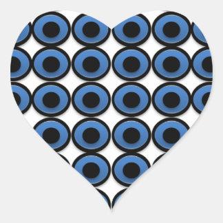 Evil Eye Ojo Protection Heart Sticker