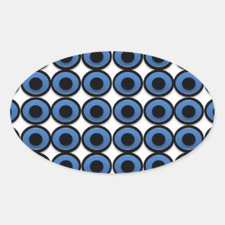 Evil Eye Ojo Protection Oval Sticker