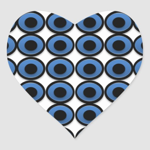 Evil Eye Ojo Protection Heart Stickers