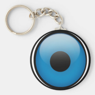 Evil Eye Protection Greek Ojo Basic Round Button Keychain