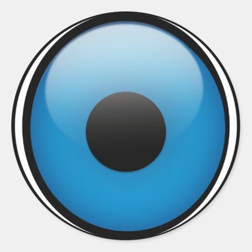 Evil Eye Protection Greek Ojo Round Sticker