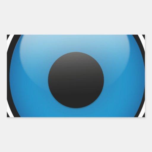 Evil Eye Protection Greek Ojo Rectangular Stickers