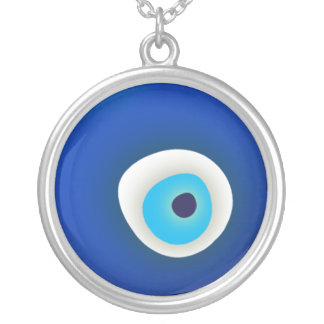Evil Eye Protection Silver Plated Necklace