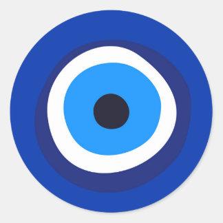 evil eye symbol greek turkish arab talisman round sticker