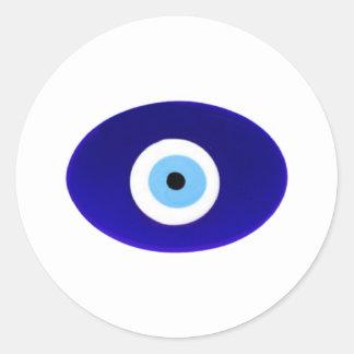 Evil Eye Talisman Round Sticker
