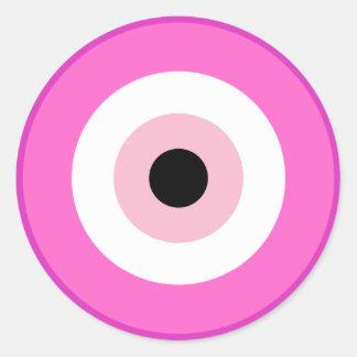 Evil Eye Ward Off Breast Cancer Classic Round Sticker