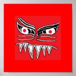 evil face (2) poster