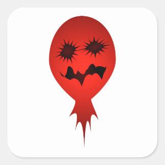 Evil Face Vector Illustration Stickers