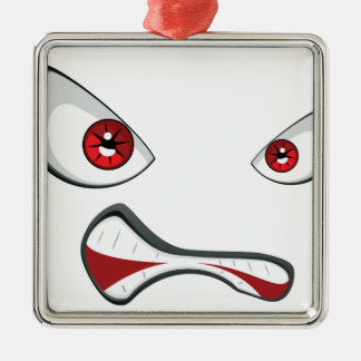 Evil Face with Red Eyes 2 Metal Ornament