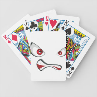 Evil Face with Red Eyes 2 Poker Deck