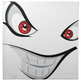 Evil Face with Red Eyes Napkin
