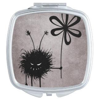 Evil Flower Bug Vintage Compact Mirror