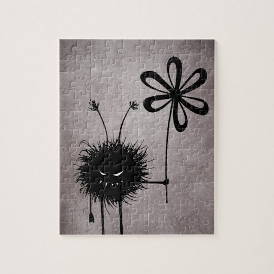 Evil Flower Bug vintage Jigsaw Puzzle