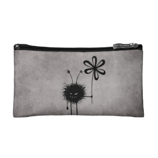 Evil Flower Bug Vintage Makeup Bag