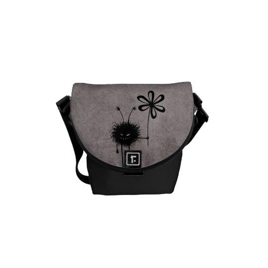 Evil Flower Bug Vintage Mini Courier Bag