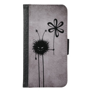 Evil Flower Bug Vintage Samsung Galaxy S6 Wallet Case