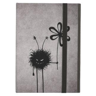 Evil Flower Bug Vintage Strap Folio Case For iPad Air
