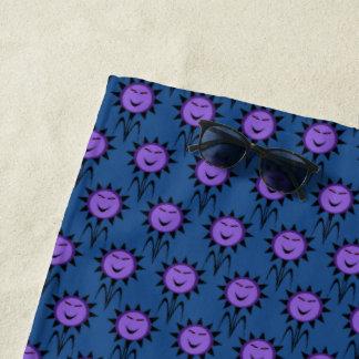 Evil Flower Kawaii Goth Halloween Beach Towel