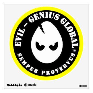 """Evil-Genius Global 12"""" Decal"""