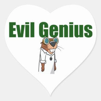 Evil Genius Heart Sticker