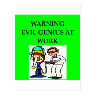 EVIL genius Post Card