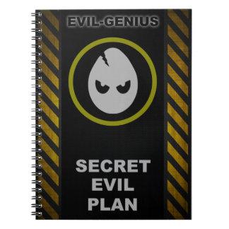 Evil-Genius Secret Evil Plan Book Note Book