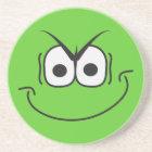 Evil Genius Smiley Face Green Coaster
