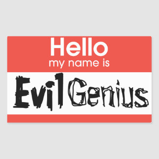 Evil Genius stickers