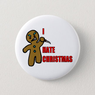 Evil Gingerbread Man 2 Inch Round Button