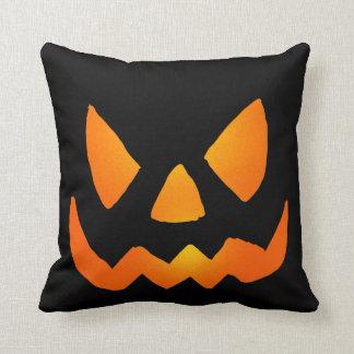 Evil Glowing Jackolantern Face Throw Pillow