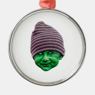 Evil Golbin Silver-Colored Round Ornament