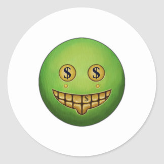 Evil Grin Round Sticker