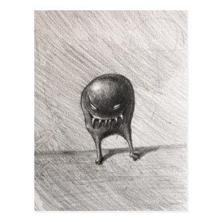 Evil Grinning Spheroid Monster Postcard