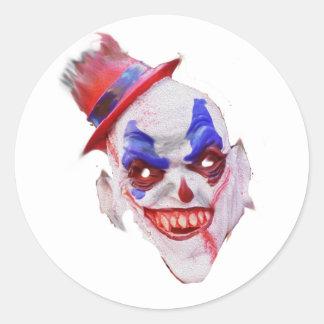Evil Halloween Clown Face Stickers
