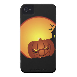 Evil Halloween Pumpkin Scene iPhone 4 Case-Mate Cases