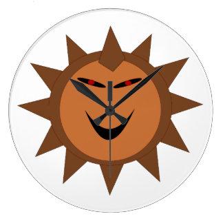 Evil Hedgehog Kawaii Goth Halloween Wall Clock
