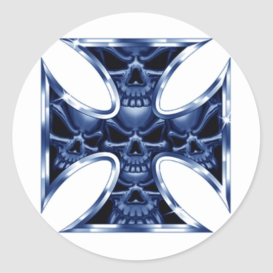 Evil Iron Cross 2 Classic Round Sticker