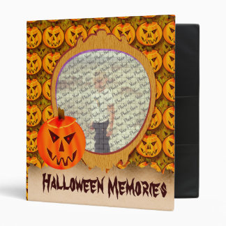 "Evil Jack-O-Lantern Customizable 1"" Photo Binder"