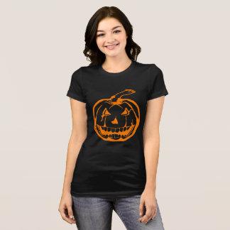 Evil Jack-o-lantern Halloween Black T-Shirt