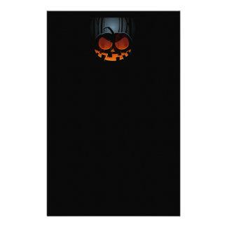 Evil-Jack-O'-Lantern Halloween Stationery Paper