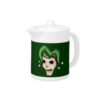 Evil Jester Skull (Green)