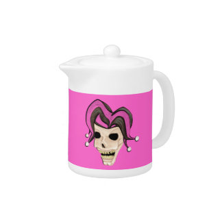 Evil Jester Skull (Pink)