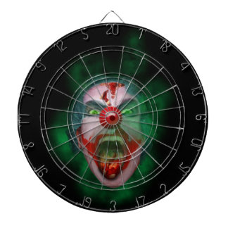 Evil Joker Clown Face Dartboards
