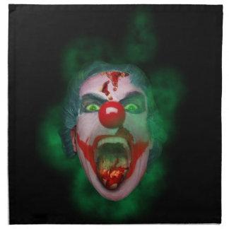 Evil Joker Clown Face Napkin