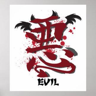 Evil Kanji Poster