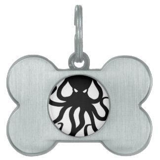 Evil kraken pet name tag