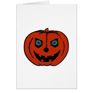 EVIL LANTERN (Halloween Jack-O-Lantern) ~ Greeting Card