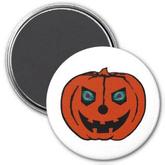 EVIL LANTERN (Halloween Jack-O-Lantern) ~ 3 Inch Round Magnet